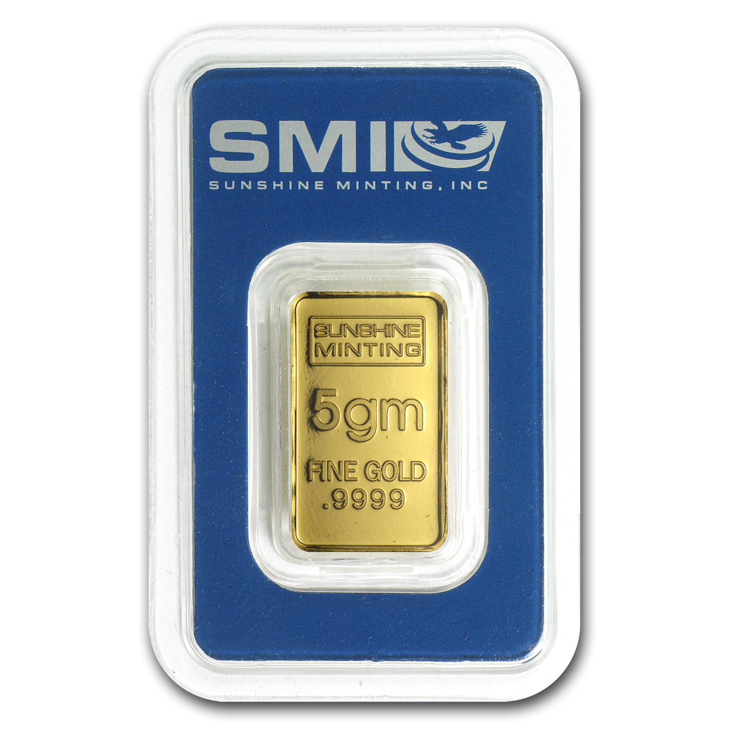 5 gram Gold Bar - Sunshine Minting Old Design (In TEP Packaging)